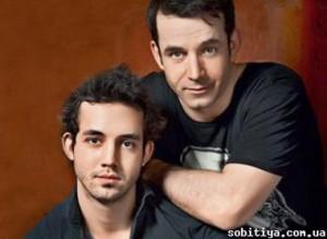 Дмитрий Певцов с сыном Даниилом.